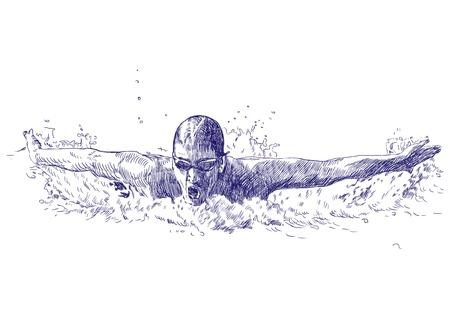 swimmer   drawing