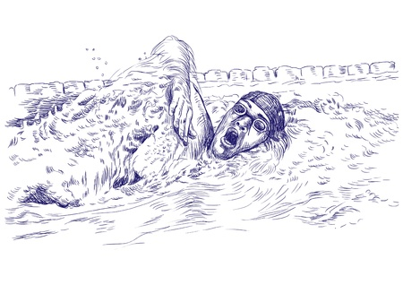 swimmer   drawing photo