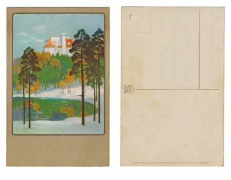 buch: LEIPZIG, GERMANY, CIRCA 1910 - Meisner   Buch, Leipzig - Kunstler, Postkarten Serie 2147, Winterszeit, schone Zeit Editorial