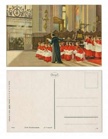 g p: DRESDEN, GERMANY, CIRCA 1910 - A  P  Dawant, Paris - Eine Kindermesse  Child-fair, Published by Stengel   Co , G  m   b  H - Serial No  29238 Editorial