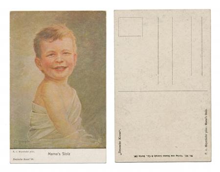 BERLIN, GERMANZ, CIRCA 1910 - F  v  Meyerhofer pinx   Mama�s Stolz, Mama�s Proud, Published by Verlag von Gustav Liersch   Co  - Serial No  501