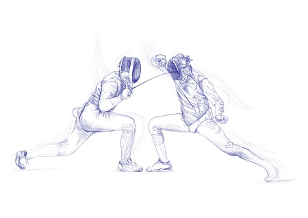 fencing - hand drawing picture Stock Photo - 14686553