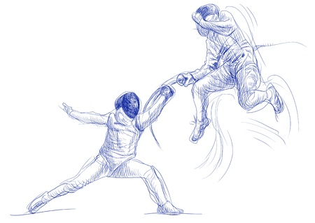fencing - hand drawing picture Stock Photo - 14686561