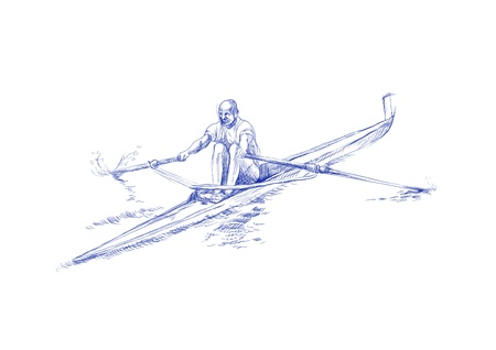 rowing - hand drawing picture Stock Photo - 14686550