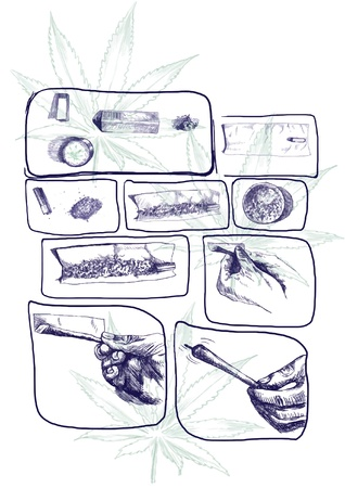 hashish: as packaged marijuana joint, storyboard 2