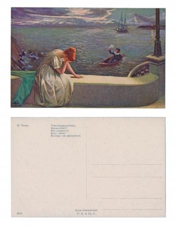 PRAGUE, CZECH REPUBLIC, CIRCA 1910 - G. Tome - Published by Salon International D. K. & Co. P. - Do not forget