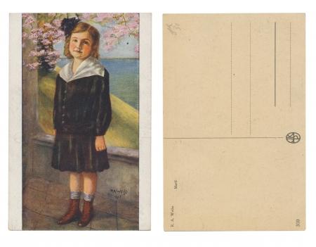 PRAGUE, CYECH REPUBLIC, 1917 - R  A  Weihs   Martl - Published by JKP - Serial No  310 - Circa 1917