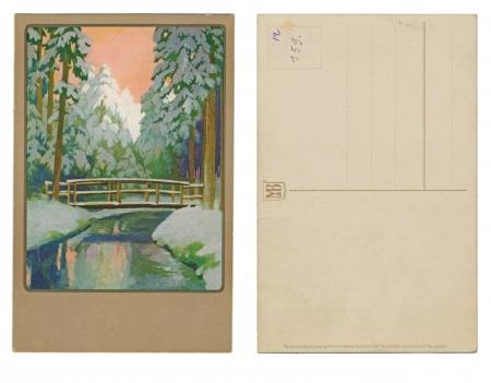 buch: LEIPZIG, GERMANY, CIRCA 1910 - Meisner   Buch, Leipzig - Kunstler, Postkarten Serie 2147, Winterszeit, schone Zeit - Circa 1910