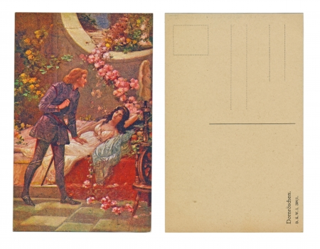 LEIPZIG, GERMANY, CIRCA 1910 - Published by B  K  W  1 398   1 , Dornroschen - Sleeping Beauty - Circa 1910