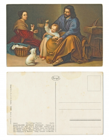 DRESDEN, GERMANY, CIRCA 1910 - Bartolome Esteban Murillo, Madrid, Spain - Die heilige Familie - Holy Family - Published by Stengel   Co, G  m   b  H , Dresden, Series no  29026 - Circa 1910