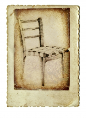 archaically: hand drawing and vintage processing - chair