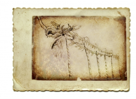 hand drawing and vintage processing - dragon Stock Photo - 14778561