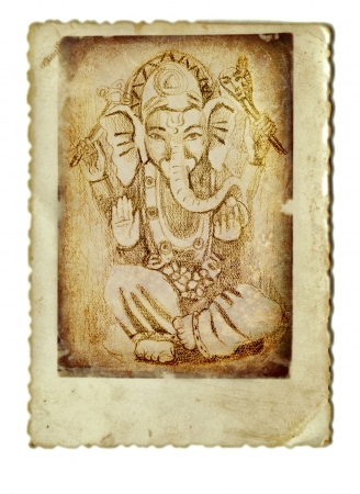 indian god: hand drawing and vintage processing - indian god