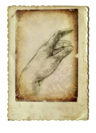 archaically: hand drawing and vintage processing - hand Stock Photo
