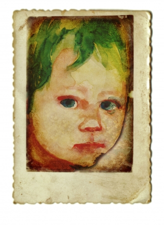 archaically: hand drawing and vintage processing - kid