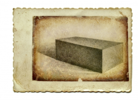 archaically: hand drawing and vintage processing - brick