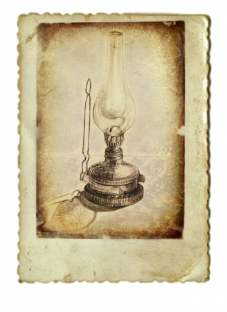 kerosene: hand drawing, kerosene lamp