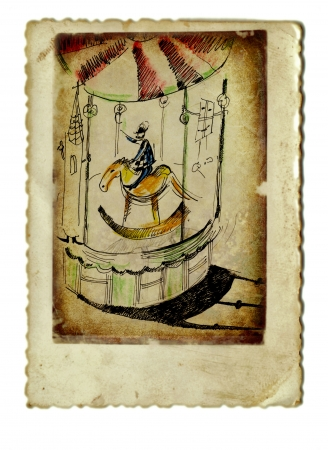 academic touch: hand painting, carousel