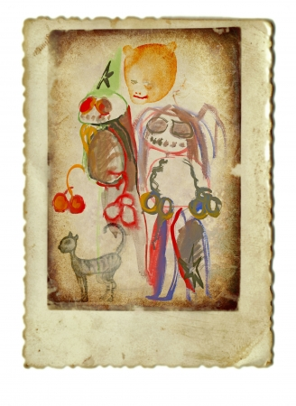 archaically: hand painting, halloween monsters