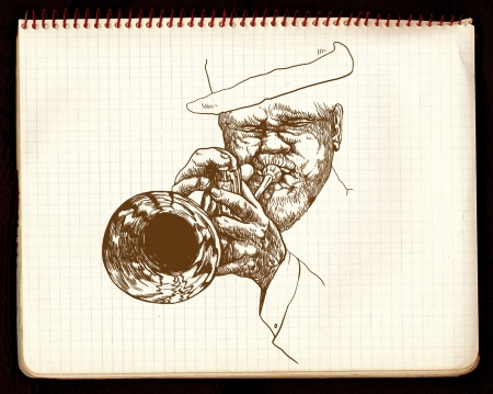 hand drawing,  jazz music photo