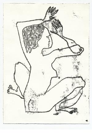mujer de espaldas: Dibujo - mujer desde atr�s