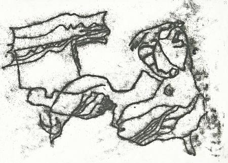 academic touch: hand drawing - woman  stylization