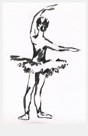 archaically: hand drawing - ballerina
