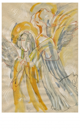 archaically: painting - angels Stock Photo