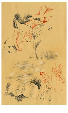 archaically: hand drawing - surrealistic imaginations