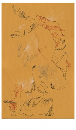 archaically: hand drawing - imaginations  with human figures