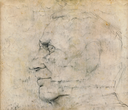 hyper: hand drawing picture, sketch of man, pencil technique Stock Photo