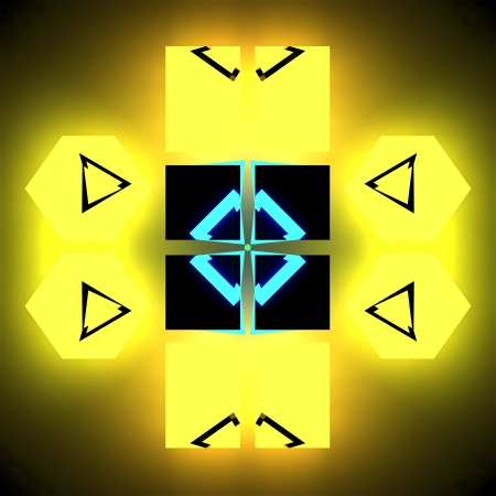 fortuna: yellow cube - cg picture Stock Photo
