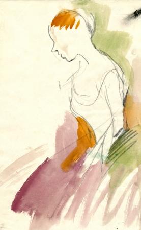 ballerina - watercolors technique