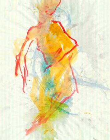 archaic: ballerina - watercolors technique