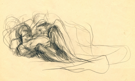 academic touch: expression, two figures - drawing