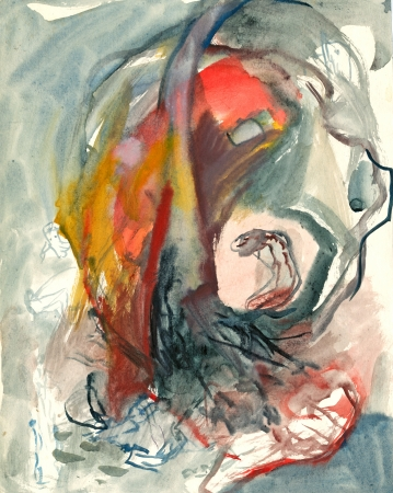 archaically: abstraction - mixed, painting