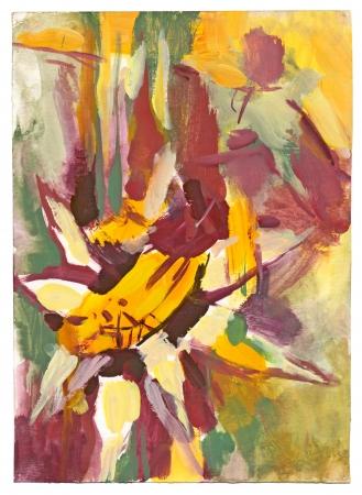 archaically: flower - tempera technique