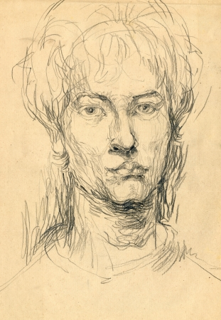 archaically: head - drawing