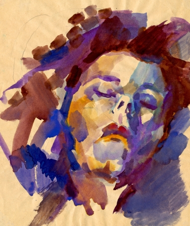 head - watercolors painting Stock Photo - 15002992