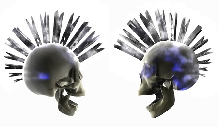 Cg picture, rendering - punk skulls photo