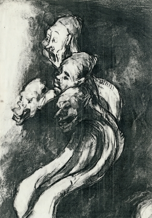 by Goya - four figures, hand drawing  black ink