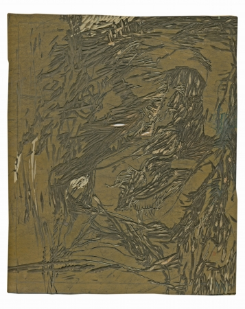 archaically: linocut, matrix - abstract background