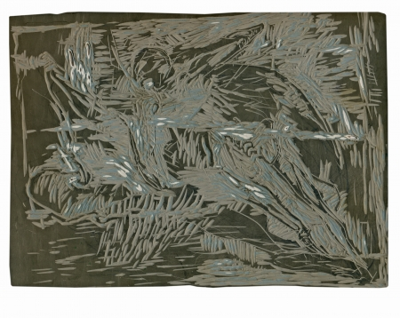 academic touch: linocut, matrix - abstract background