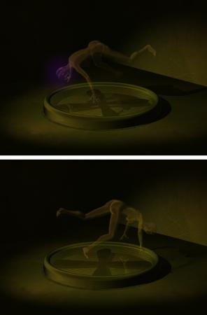 levitating: cg picture, rendering - levitating woman