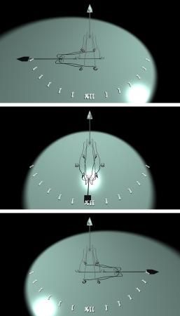 sun dial: cg picture, rendering - sun dial