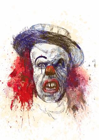 dientes sucios: la cosa - mano de dibujo, boceto original