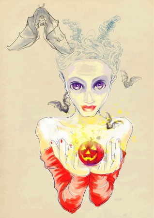 vamp: very gentle devil  she  - hand drawing using digital tablet
