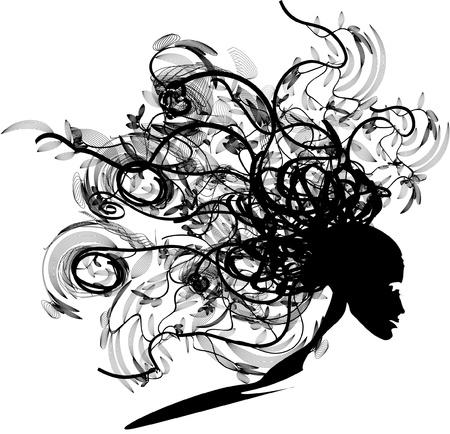 black floral head