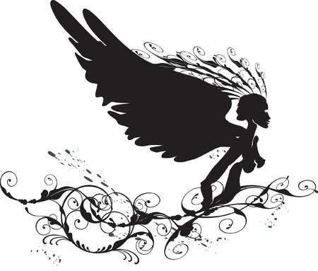 black angel Vector