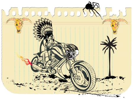 indian rider Stock Vector - 15238401